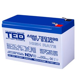 TEDBATERIE AGM TED1296HR 12V 9.6Ah HIGH RATE